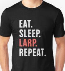 Eat. Sleep. LARP. Repeat. | Funny LARP Design Unisex T-Shirt