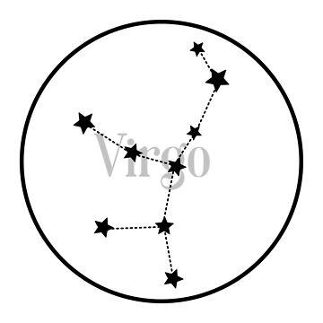 Virgo zodiac constellation (white) by EleYeah