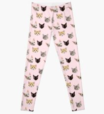 Kitty Cat Pink Leggings Leggings