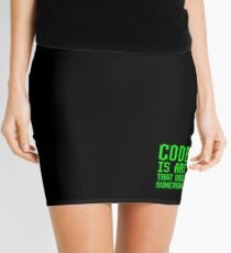 Code Is Art That Does Something Funny Computer Programming Coding Gift Mini Skirt