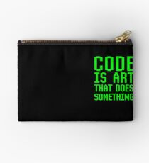 Code Is Art That Does Something Funny Computer Programming Coding Gift Studio Pouch