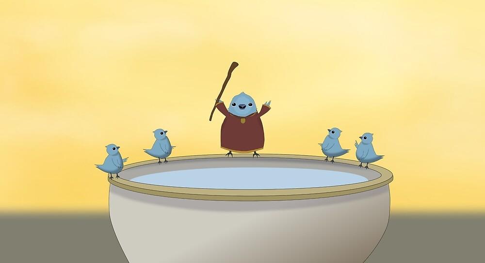 Gathering at the Birdbath by BrianGiovanni