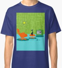 Retro Space Age Kitty Classic T-Shirt