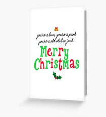 Pogues Christmas  Greeting Card