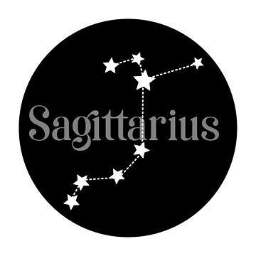 Sagittarius zodiac constellation (black) by EleYeah