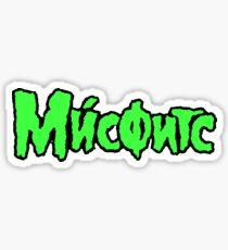 Misfits - Russian Cyrillic Sticker