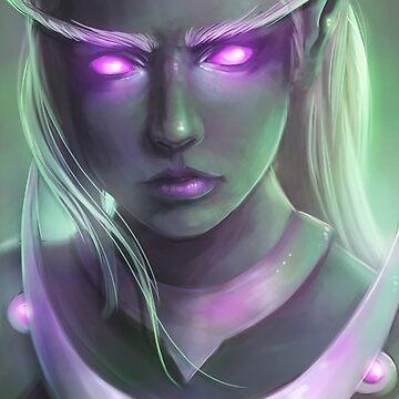 Nightborne elf, shal'dorei - Warcraft Fanart by MoonpixStudios