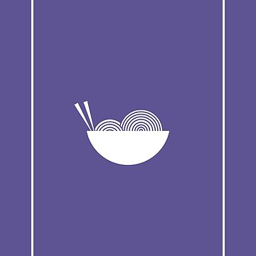 Minimalist Noodles Ultra Violet by PopularGifts