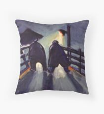 The pit road Throw Pillow