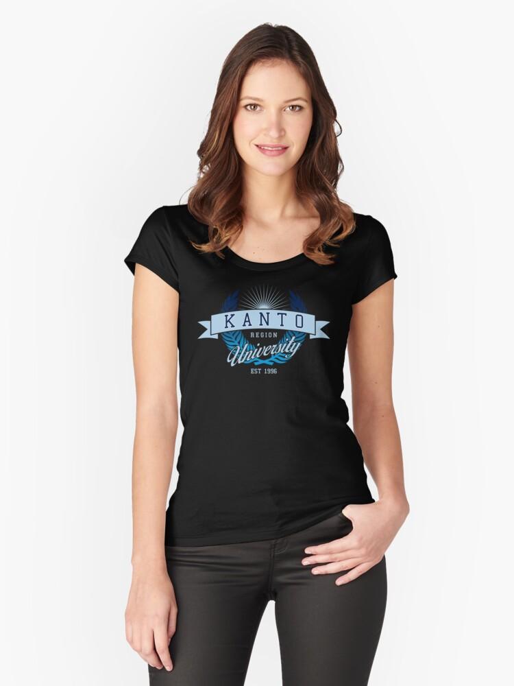 Kanto Region University_Dark BG Women's Fitted Scoop T-Shirt Front