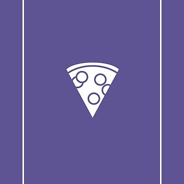 Minimalist Pizza Ultra Violet by PopularGifts