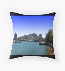 Townsville on the water Throw Pillow
