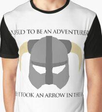 Skyrim Helmet - Arrow in the knee Graphic T-Shirt