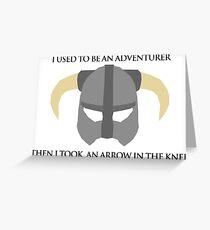 Skyrim Helmet - Arrow in the knee Greeting Card