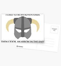 Skyrim Helmet - Arrow in the knee Postcards