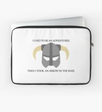 Skyrim Helmet - Arrow in the knee Laptop Sleeve