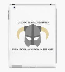 Skyrim Helmet - Arrow in the knee iPad Case/Skin