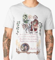 Dickens and Christmas Men's Premium T-Shirt