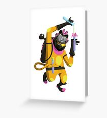 Dr. Aperaham, Mad Chemist Greeting Card