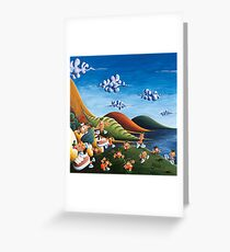Tale of Carrots (cut) - Kids Art from Shee - Surreal Worlds Greeting Card
