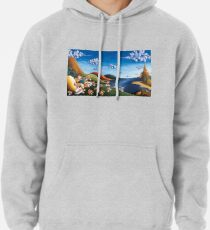 Tale of Carrots - Original Art from Shee - Surreal Worlds Pullover Hoodie