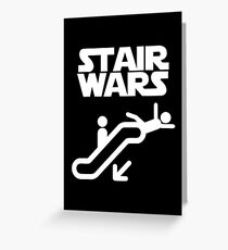 stair wars Greeting Card