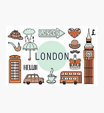 London Icons, Poster Photographic Print