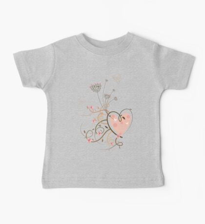 Pink Curly Heart & Butterflies Kids Clothes