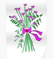 Carnations bouquet Poster