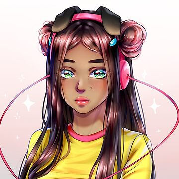Girl with pink headphones by N-World