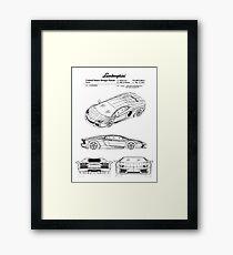 Lamborghini Aventador Patent Black Framed Print