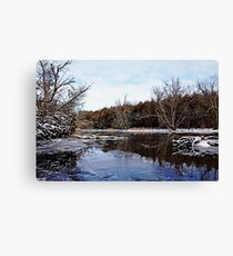 Late Autumn On The River Canvas Print