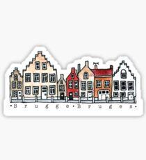 Brugges Belgium Art Sticker