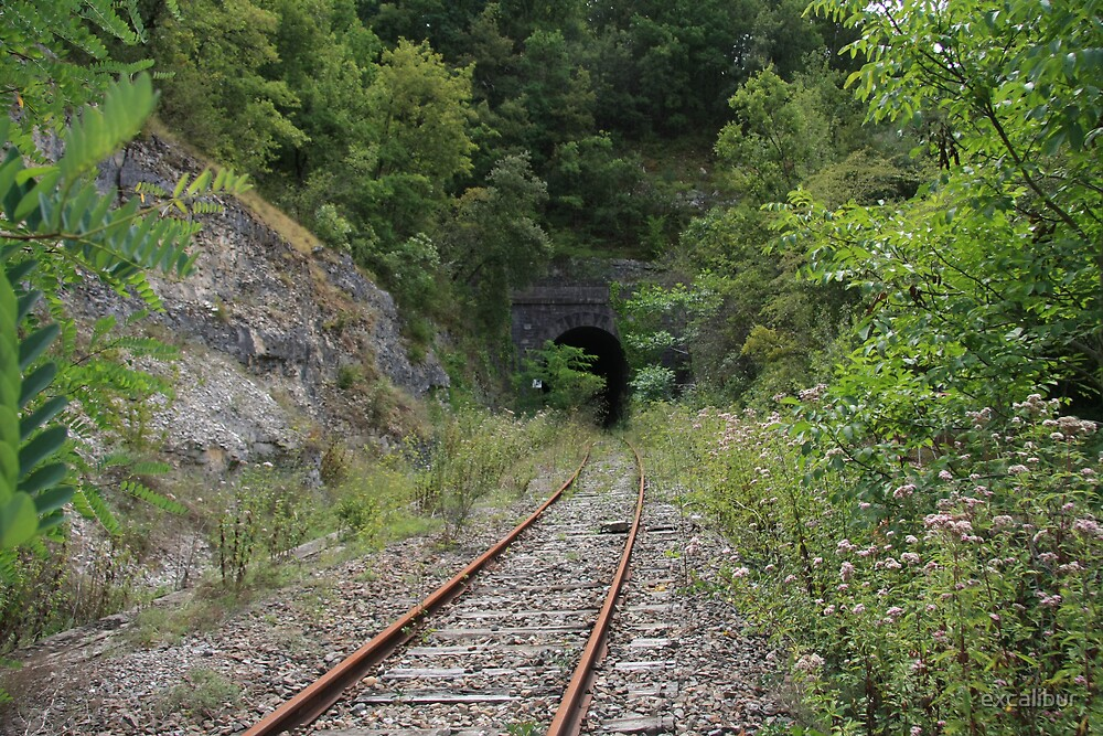 Disappearing tunnel. by excalibur