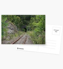 Disappearing tunnel. Postcards
