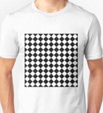 Seamless diagonal black on transparency diamond background Unisex T-Shirt