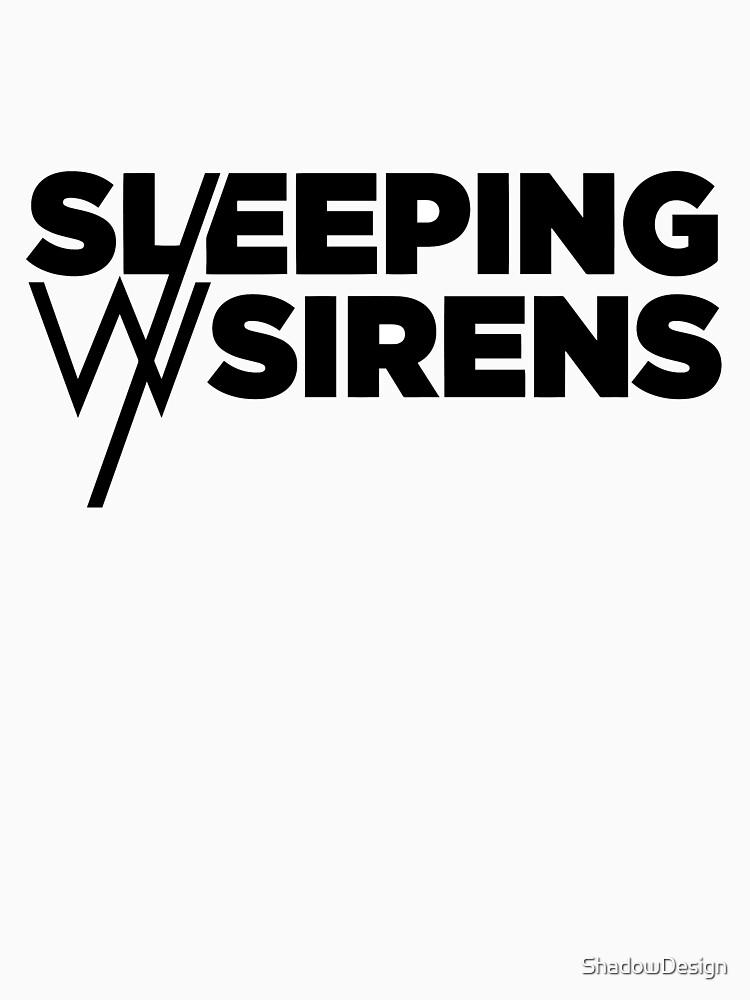 Sleeping With Sirens Logo Black Classic T Shirt By Shadowdesign