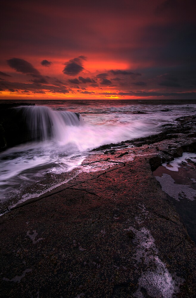 SUNRISE FALLS. by STEVE  BOOTE