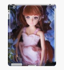 Doll girl covering in flowers iPad Case/Skin