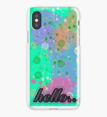 hello... iPhone Case/Skin