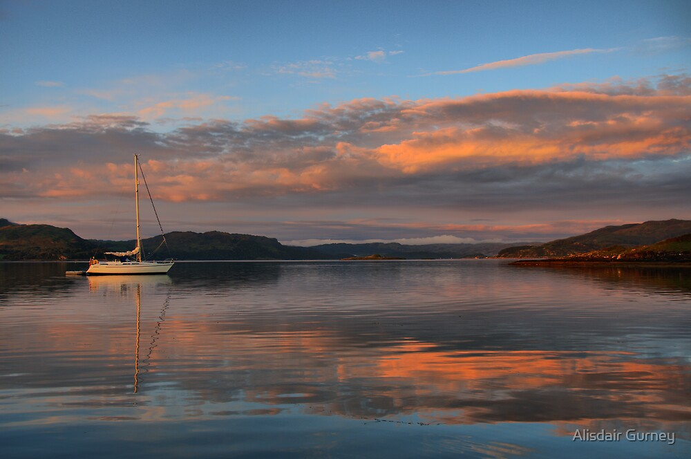 Sunset over Loch Melfort, from Shuna by Alisdair Gurney