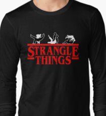Strangle Things | brazilian jiu jitsu | jiu jitsu apparel | jujitsu shirts | bjj | bjj shirt | bjj gift | martial arts shirt | mma shirt Long Sleeve T-Shirt