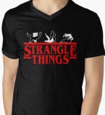 Strangle Things | brazilian jiu jitsu | jiu jitsu apparel | jujitsu shirts | bjj | bjj shirt | bjj gift | martial arts shirt | mma shirt Men's V-Neck T-Shirt