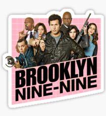 Brooklyn Nine-Nine Pink Logo Sticker