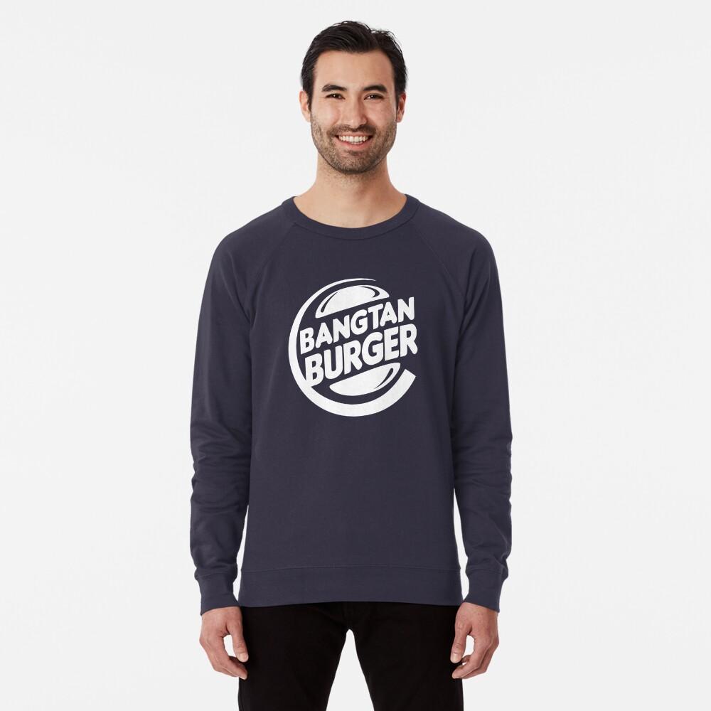 BTS Bangtan Burger - dark background Lightweight Sweatshirt Front