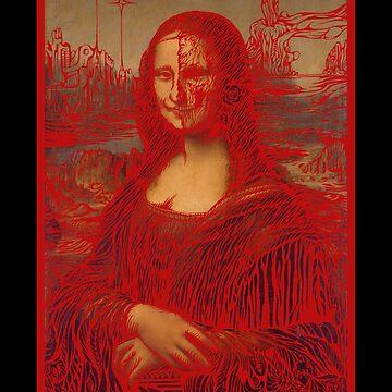 Psychedelic Mona Lisa  #1 by sandersart