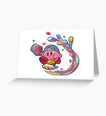 Painting Kirby Greeting Card