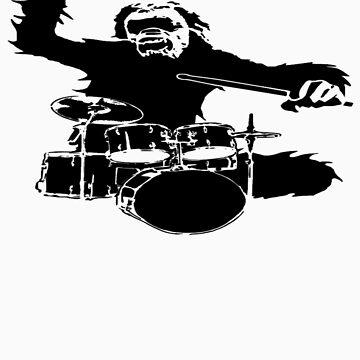 druming monkey by kingjames465
