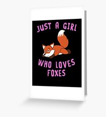 Just a Girl Who Loves Foxe Animal Spirit Funny Gift Pet Lover Cartoon Illustrations  T-Shirt Sweater Hoodie Iphone Samsung Phone Case Coffee Mug Tablet Case Gift Greeting Card