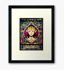 Stained Glass Princess Zelda Framed Print